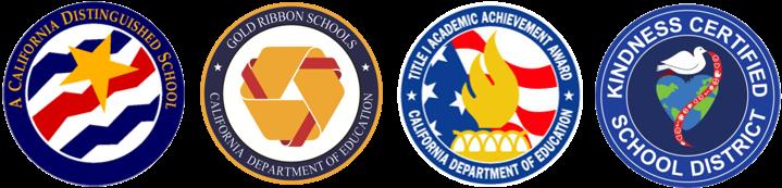Four District Achievement Award Emblems